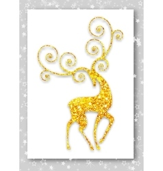 Gold deer in modern style Ideal for Merry vector image vector image