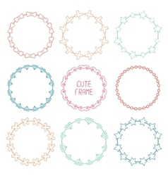 Hand drawn frames of fashion pattern with hipster vector image