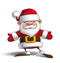 Happy Santa Open Hands vector image vector image