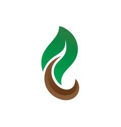 leaf eco nature logo image vector image vector image