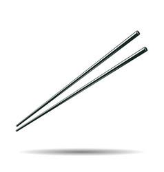 monochrome japanese chopsticks sign vector image