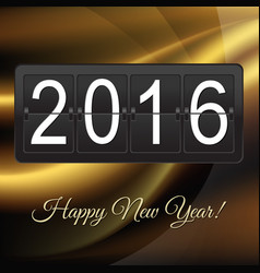 new years card with black counter vector image vector image