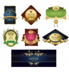 set of classic labels vector image