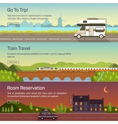set of travelling vector image vector image