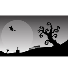 Witch flying halloween backgrounds vector