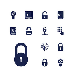13 password icons vector