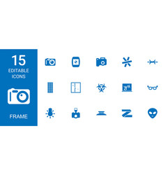 15 frame icons vector