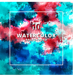 abstract multicolor watercolor stains textures vector image