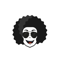 afro style design design flat vector image