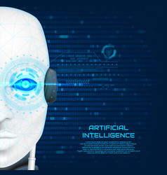 Artificial intelligence concept background vector