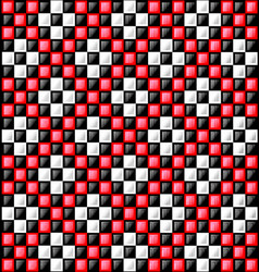 black white and red glossy blocks vector image