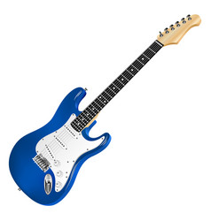 blue electric guitar classic vector image