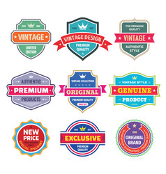 business badges set in retro vintage design vector image