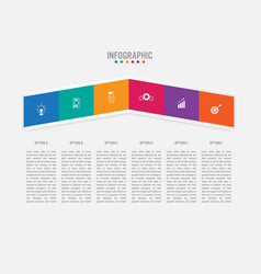 Business infographic template with 5 options vector