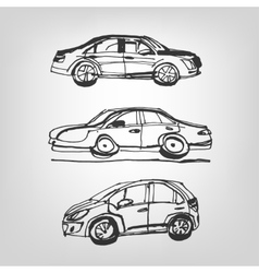 Car sketches vector