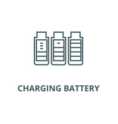 charging battery line icon charging vector image