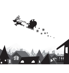 christmas city wallpaper vector image