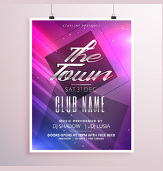 colorful music party flyer poster template with vector image