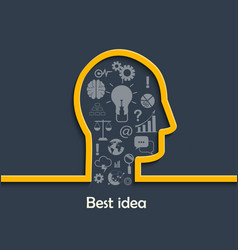 Concept of big and best ideas vector
