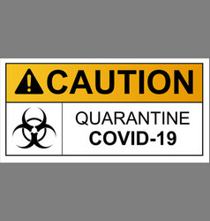 Coronavirus covid 19 caution outbreak quarantine vector