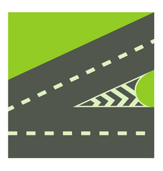 crossroads icon cartoon style vector image