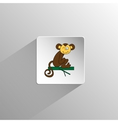 cute colored monkey icon vector image vector image