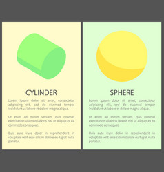 cylinder and sphere posters vector image