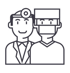 doctorshealth caremedicine insurance line vector image