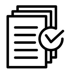 Document approved request icon outline style vector