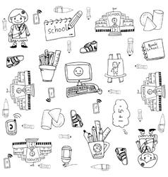 Doodle of hand draw element school vector