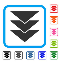 Downloads direction framed icon vector