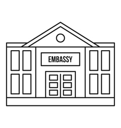 Embassy icon outline style vector