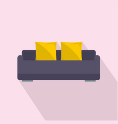 english roll sofa icon flat style vector image