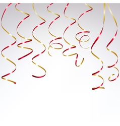 Festive Red Ribbon vector