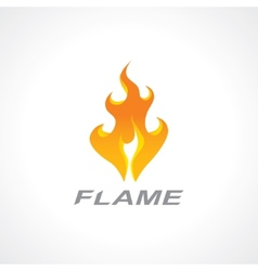 flaming fire vector image