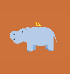 Flat style hippo vector