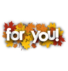 For you background with maple leaves vector image