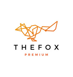 fox geometric tech line logo icon vector image