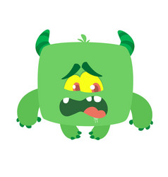 Funny cartoon monster halloween vector