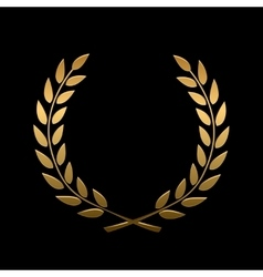 Gold award laurel wreath vector