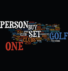 Golf club text background word cloud concept vector
