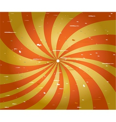 Grunge red and yellow spiral stripes vector image