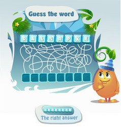 Guess the word sparkler christmas vector