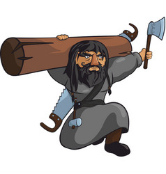 Harsh medieval carpenter vector