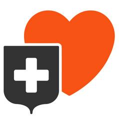 Heart shield flat icon vector