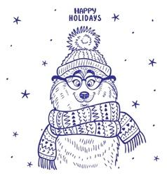 Husky winter vector image