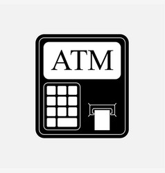 icon atm withdrawals from kartochki financial vector image