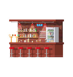 Interior of pub cafe or bar counter vector