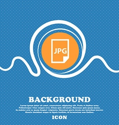 Jpg file icon sign Blue and white abstract vector image
