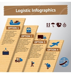 Logistic infographic template vector